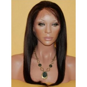 "Full Lace Virgin Indian Hair - Straight 18"" Lengh"