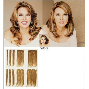 Human Hair Clip In Extensions (10pc) by Raquel Welch